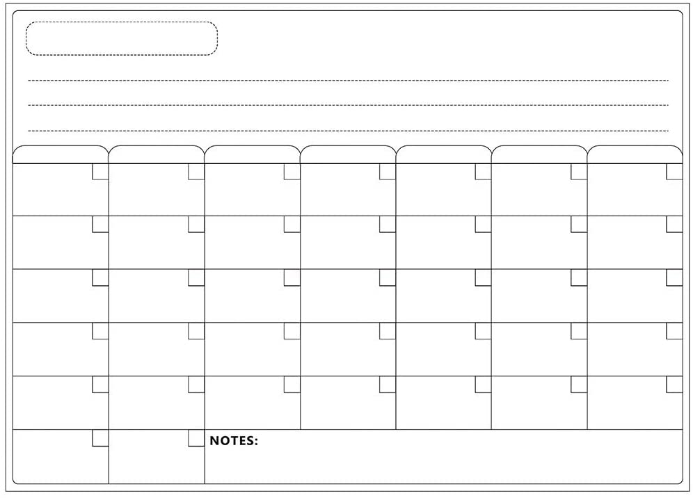 Fineday Calendar Whiteboard Magnetic Calendars for Refrigerator Family Notepad, Office & Stationery HotSales (C)