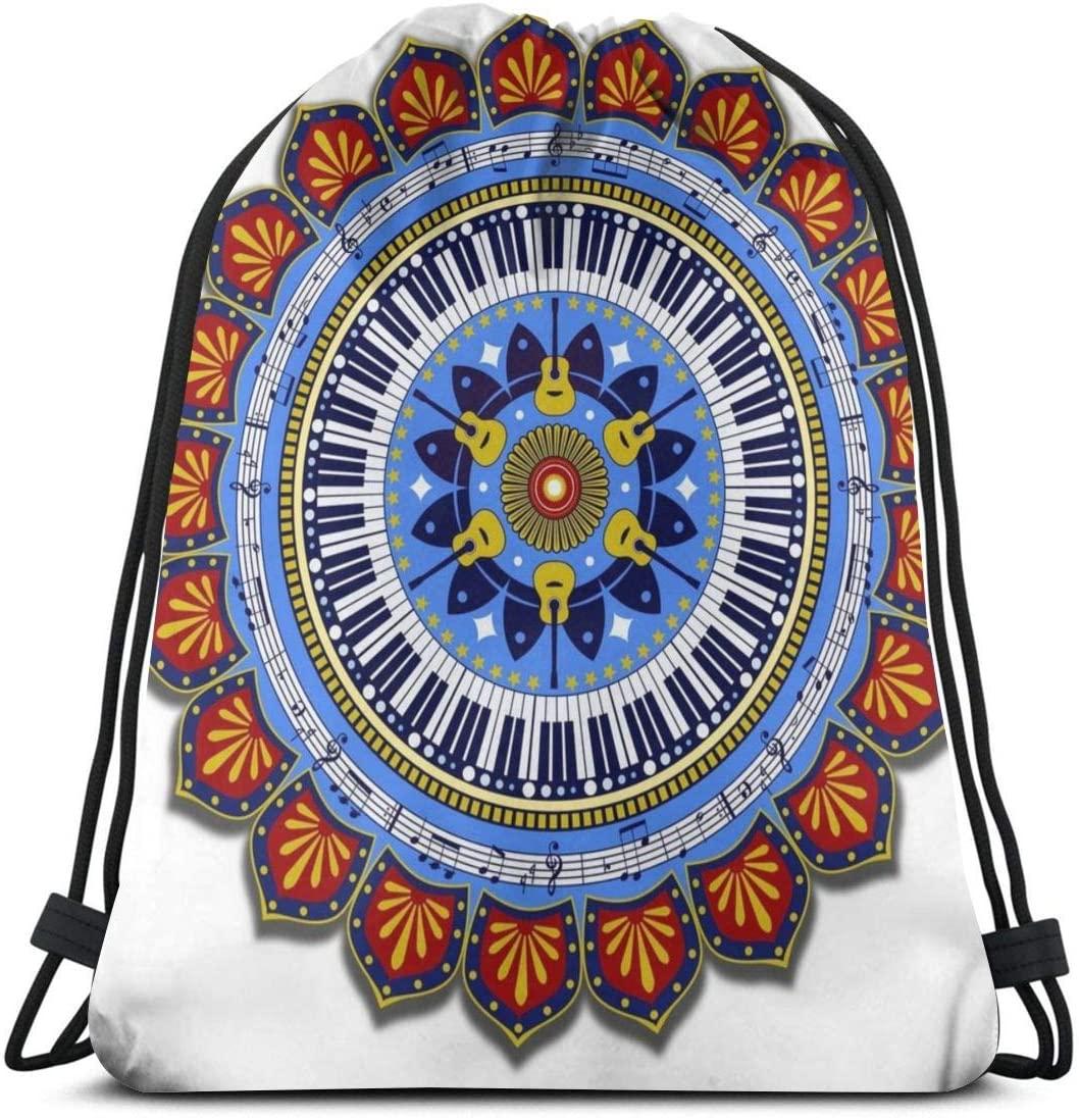 Backpack Drawstring Bags Cinch Sack String Bag Mandala Background Texture Art Sackpack For Beach Sport Gym Travel Yoga Camping Shopping School Hiking Men Women