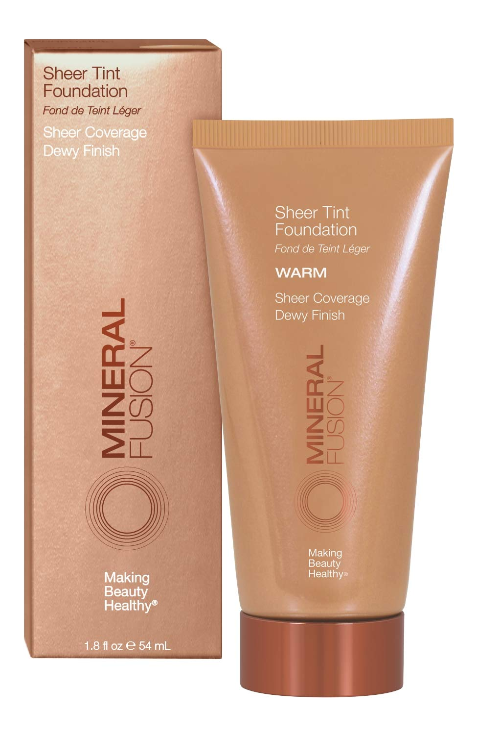Mineral Fusion Sheet Tint Foundation, Warm, 1.8 Ounce (Packaging May Vary)