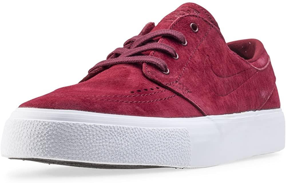 Nike Men's Zoom Stefan Janoski Premium Team Red/White Ankle-High Leather Skateboarding Shoe - 10M