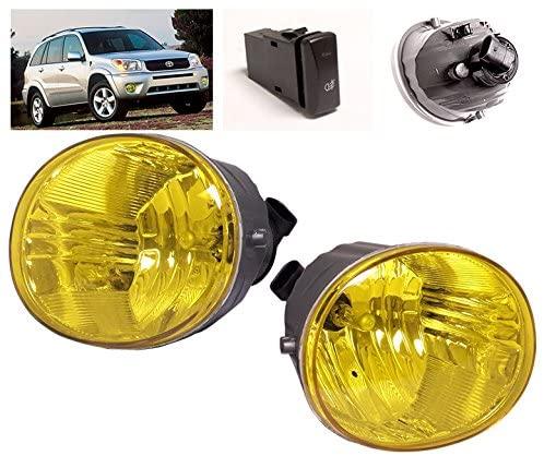 ZMAUTOPARTS Bumper Driving Fog Lights Lamps Yellow For 2004-2005 Toyota RAV4 / 2005-2007 Avalon / 2006-2009 4Runner