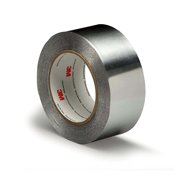3M Aluminum Foil Tape 425, Silver, 2 in x 60 yd, 4.6 mil, 24 Rolls per case