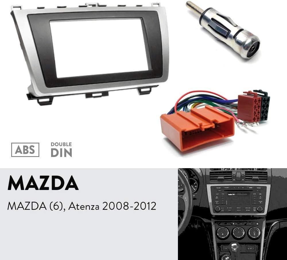 UGAR 08-011 Fascia Kit + ISO Harness + Antenna Adaptor for Mazda (6), Atenza 2008-2012