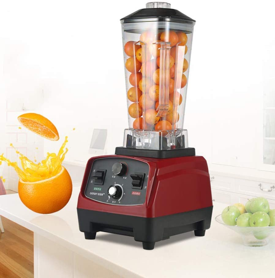 HEWEI Mixer 1650w Professional Work Mixer Smoothie Maker Commercial Mixer 2L Electric Juice Extractor Kitchen High-Speed Mixer 26000 RPM Easy to Clean