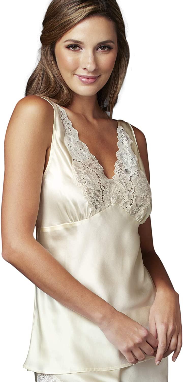 Julianna Rae Women's Perfect Indulgence 100% Silk Cami Top, Lingerie, Sleepwear, Beautiful Gift Packaging