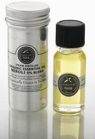 Organic Neroli Essential Oil Blend (Citrus aurantium var. amara/helianthus annus) 10ml (50 litres (£2347.00/litre)) by NHR Organic Oils