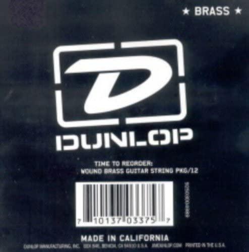 CUERDA SUELTA GUITARRA ACUSTICA - Dunlop (056B) Entorchada (12 Unidades)