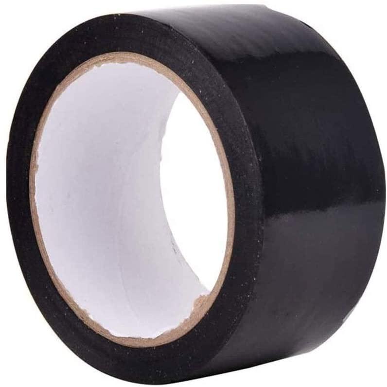 WTT PVC Marking Warning Tape Ground Positioning Waterproof Tape Isolation Logo Tape 3 Rolls 50mm X 22 Meters 0618 (Color : Black)