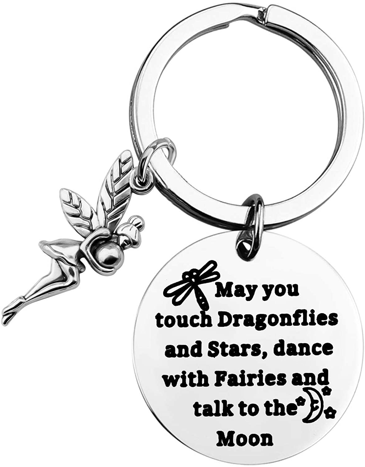 MAOFAED Inspiration Gift Dragonfly Gift Fairy Gift Moon Gift May You Touch Dragonflies and Stars Dance with Fairies and Talk to The Moon Gift for Daughter Girl