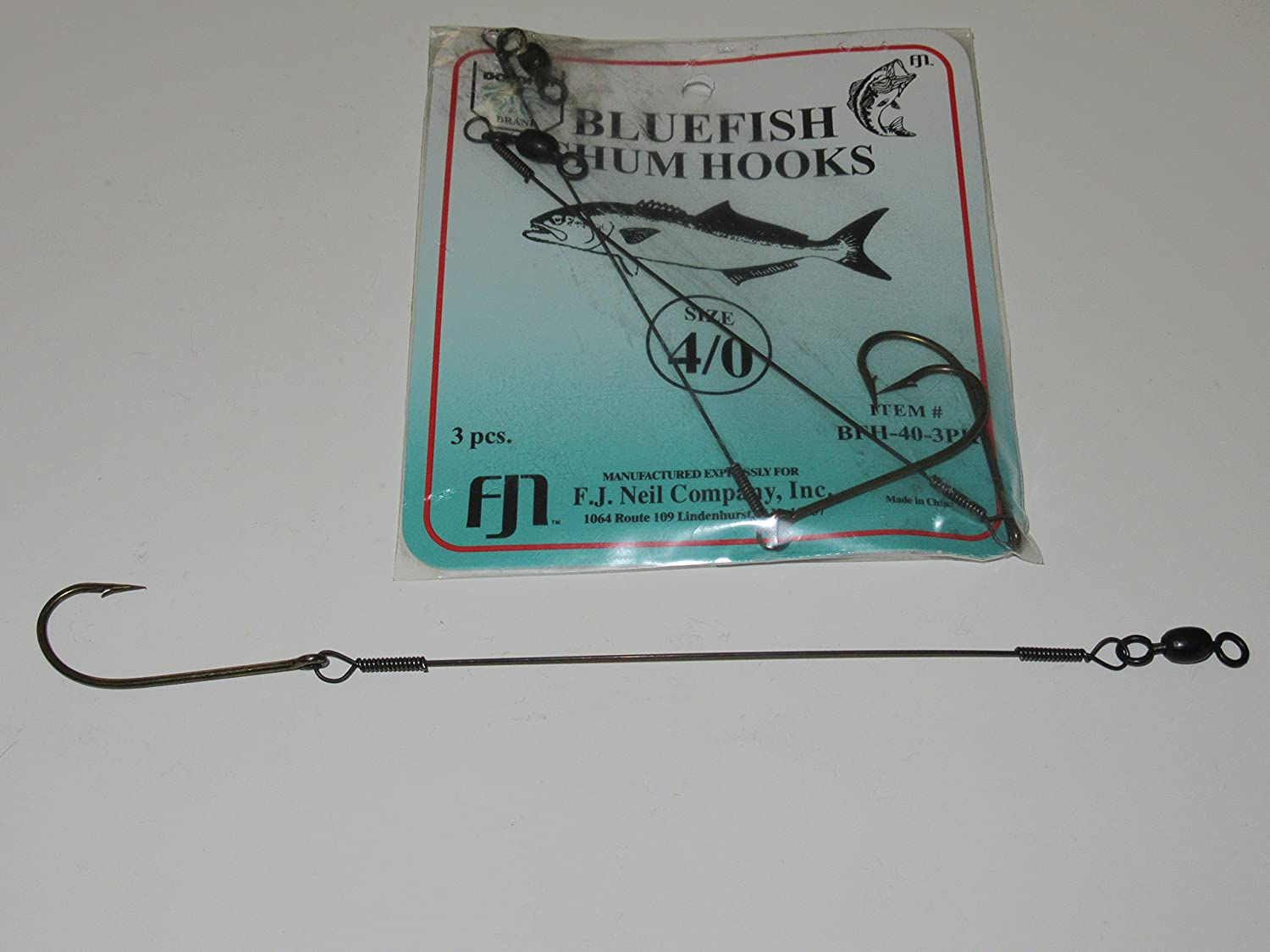 Dolphin 3 PACK WIRE SNELLED BLUEFISH CHUM CHUNK HOOKS SIZE 4/0