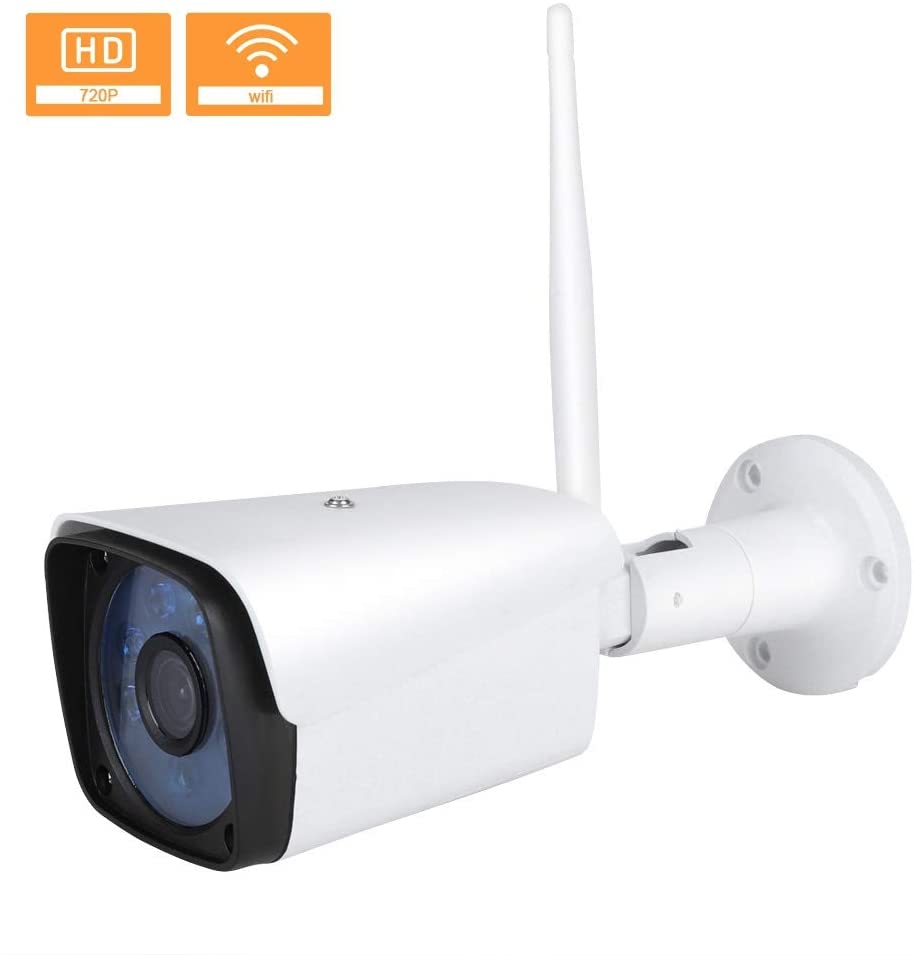 Bullet Camera, Wireless WiFi IP Camera 720P WiFi Waterproof Surveillance Camera Outdoor Camera, IP Security Surveillance System for Baby/Elder/Pet(US)