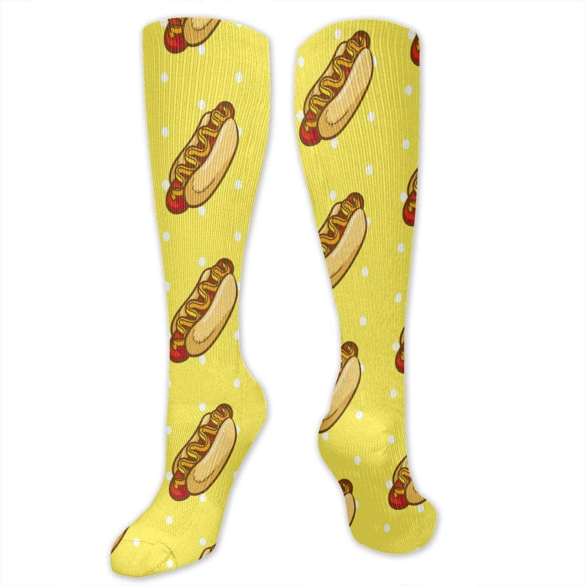 Hotdog Pattern Athletic Socks Thigh Stockings Over Knee Leg High Socks