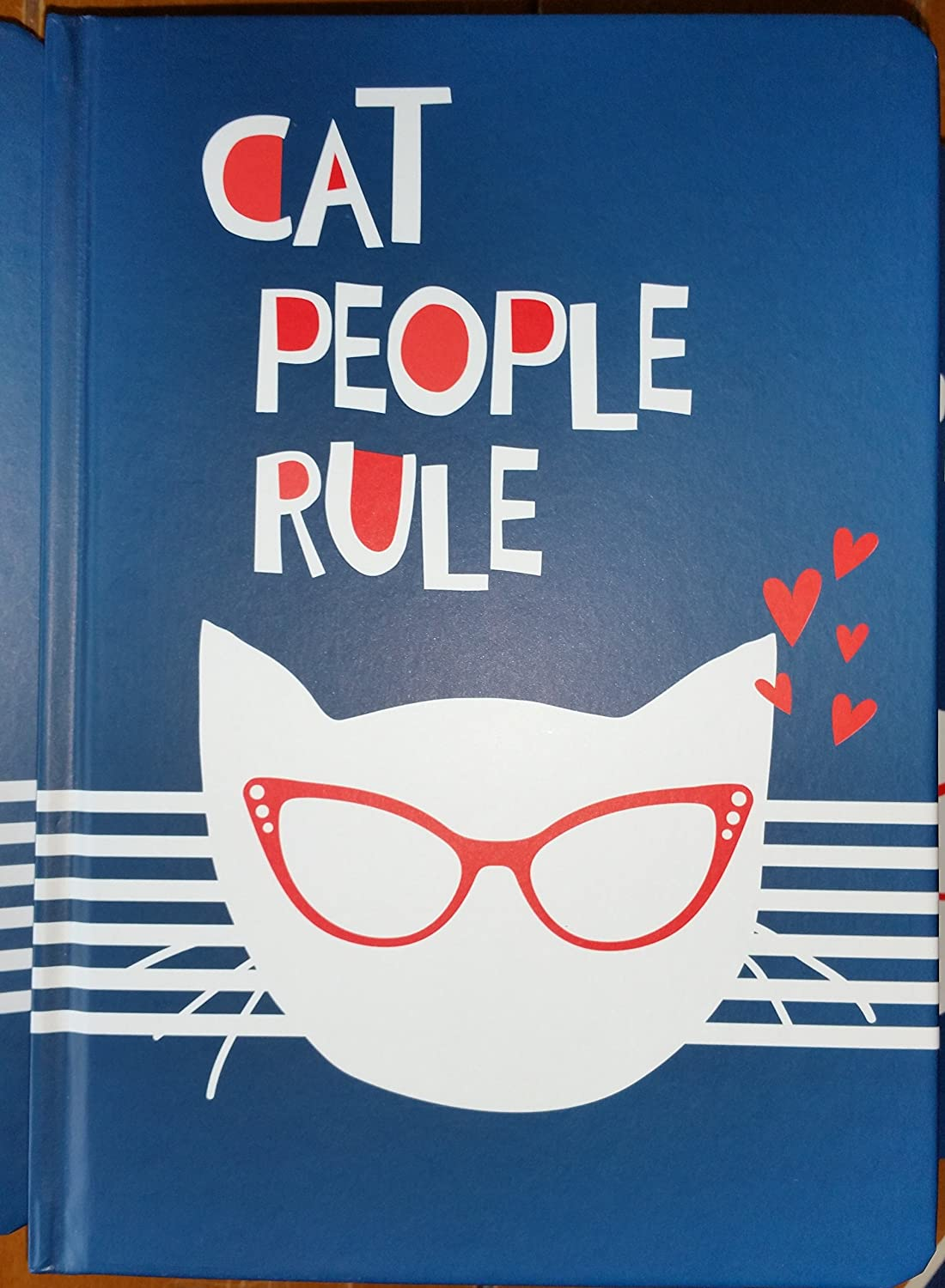 Cat People Rule Lined Hardcover Journal Notebook, 216 Sheets, 6 x 9