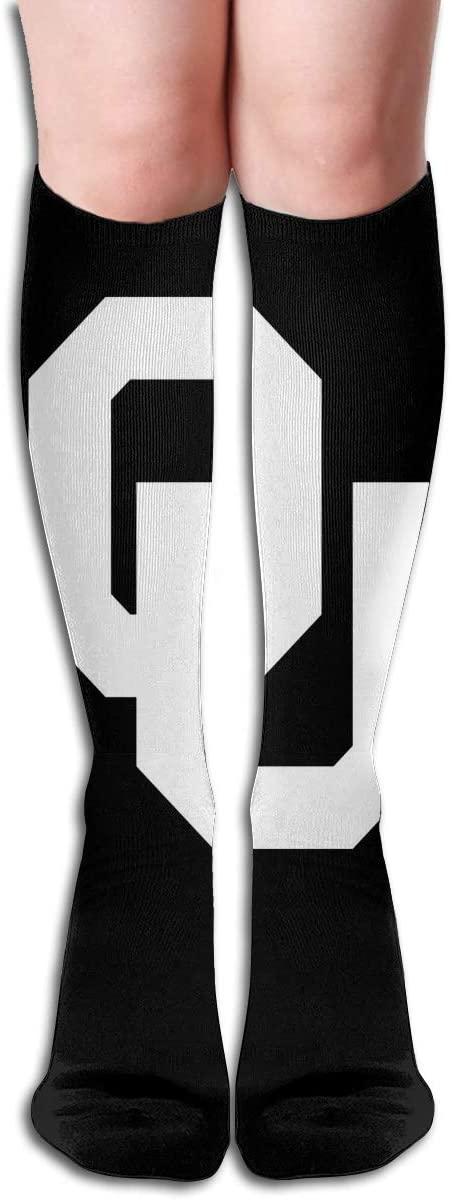 Ou Mens/Womens Comfortable Casual Funny Long Knee High Socks Compression Socks Winter Warm Soccer Socks
