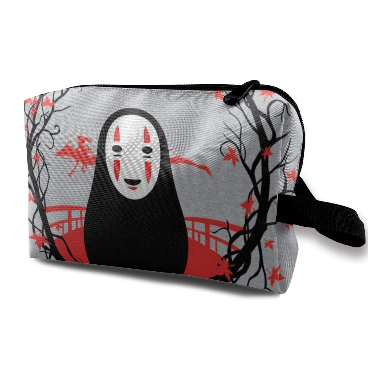 Makeup Bag Cosmetic Pouch Spirited Away No Face Circle Multi-Functional Bag Travel Kit Storage Bag