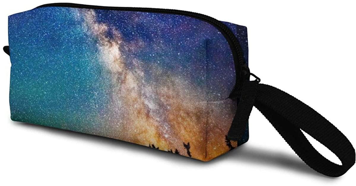 Meteor Showers Storage Bag Portable Travel Makeup Bag Tote Handbags