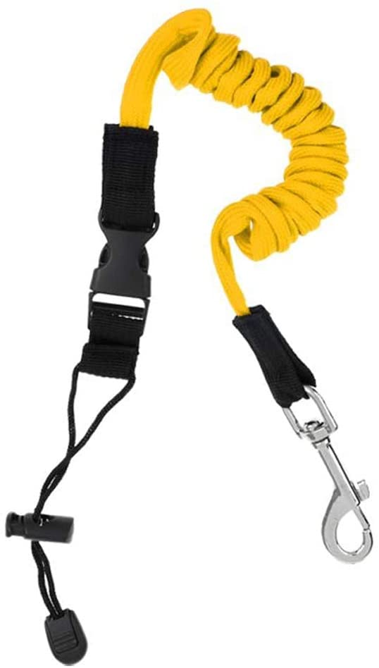 Kayak Paddle Leash 55inch Adjustable Safety Rod Leash for Paddle Board, Kayaking Canoe, SUP Board Paddles, Surfboard, Fishing Poles Rods