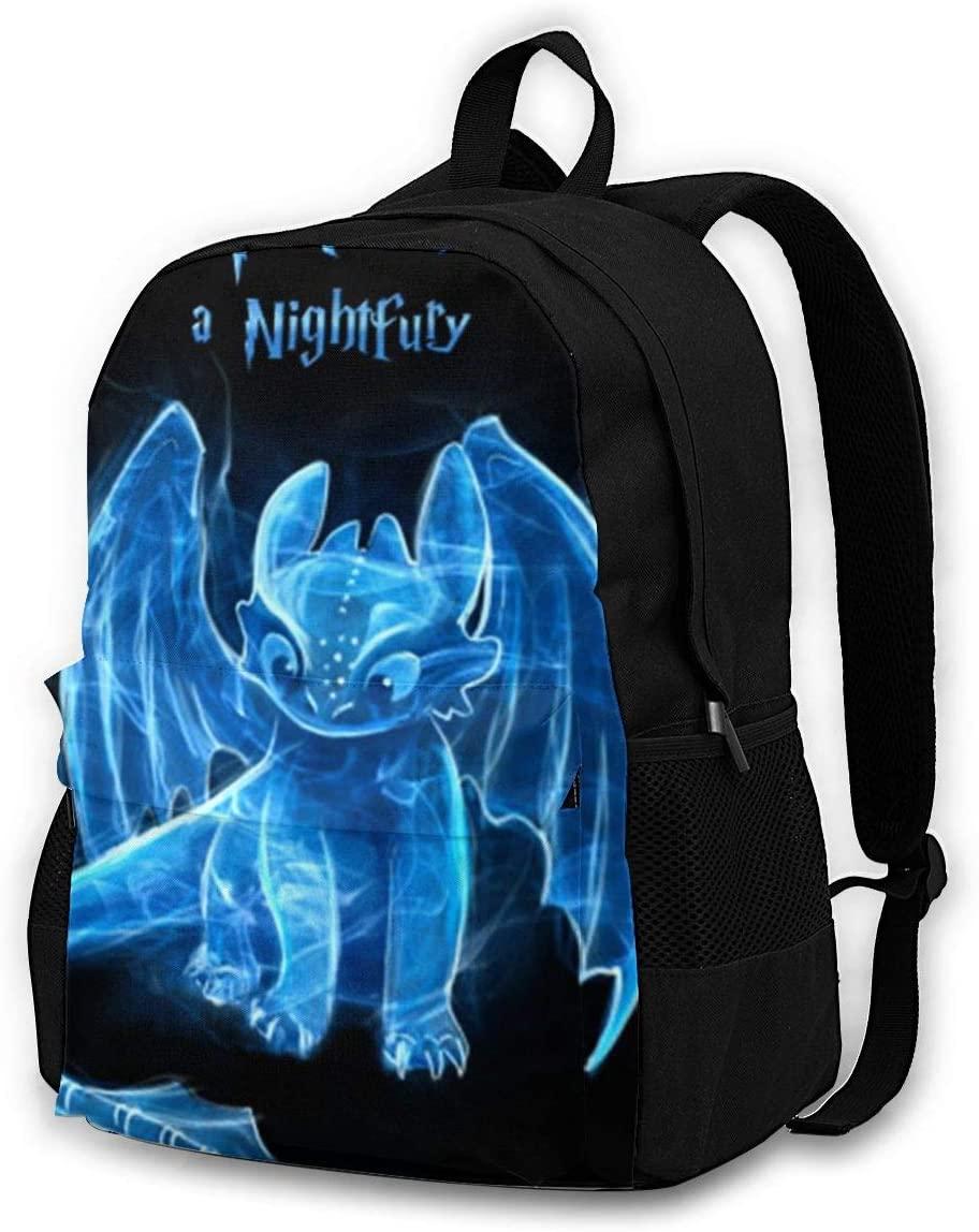 How-To-Train-Your-Dragon Backpack, Durable Shoulder Bag School Bag Laptop Bag Daypack for Adult Student