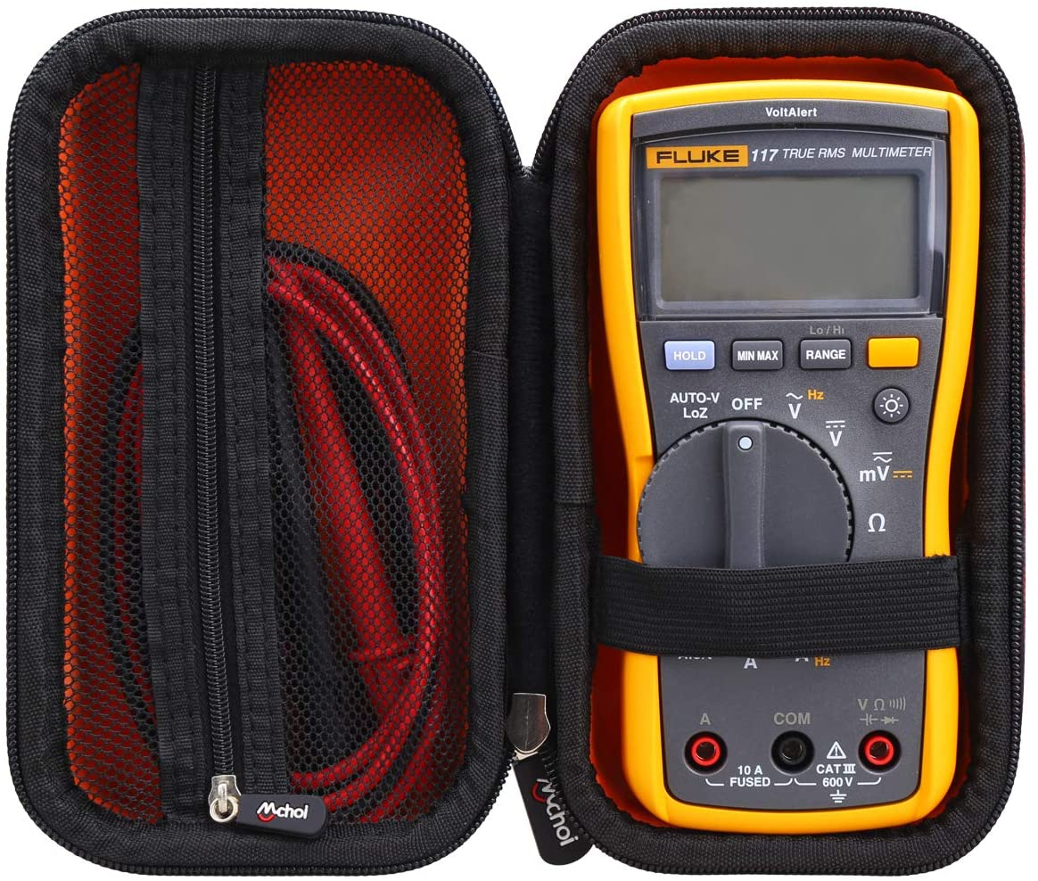 Mchoi Hard Portable Case Compatible with Fluke 117/115 Electricians True RMS Multimeter(Case Only)