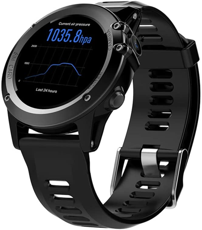 Yehyep Smart Watch, Waterproof Sports Watch 3G WiFi Smart Watch Phone, GPS SIM Smart Watch Heart Rate Monitor Sleeping Monitor for iPhone and Android(Black)