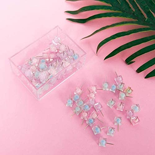 Clips PPYY New -Color Thumbtack Nail Plastic Push Pin for Photo Wall Soft Board Wood Cork Board Map Pins Fashion Creative-Gift - (Color: Mixed Color)
