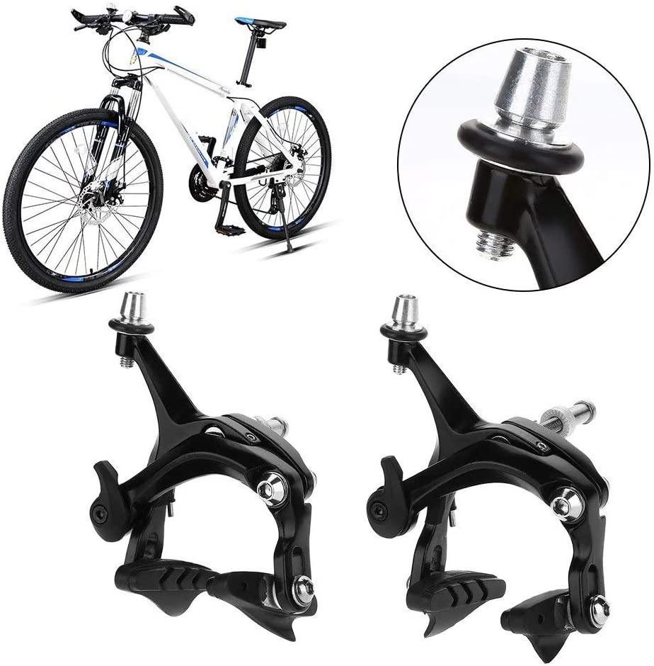 Vbestlife Road Bicycle Brake Caliper Set, 1 Pair Caliper Bike Brake V Shape Mechanical Dual-Pivot Brake Set Repair Parts Accessory