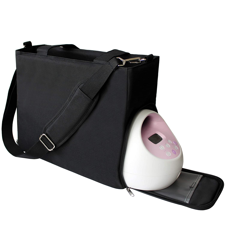 Lil Elephant Breast Pump Bag - Premium Pumping Bag for Spectra, Medela Breastpump   Stylish Tote Breastpump Bags for Moms   Breast Pump Bags and Totes