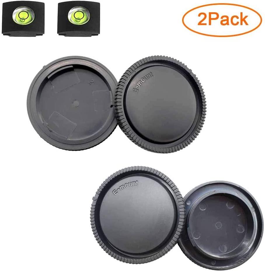 Front Body Cap + Rear Lens Cap Cover for Sony Alpha E Mount A6600 A6500 A6400 A6300 A6100 A6000 A5100 A5000/A7R IV/A7R II/A7R III/A7R/A7 III/A7 II/A7/A9/A9 II/NEX-6 NEX-7 More Sony Camera & Lens