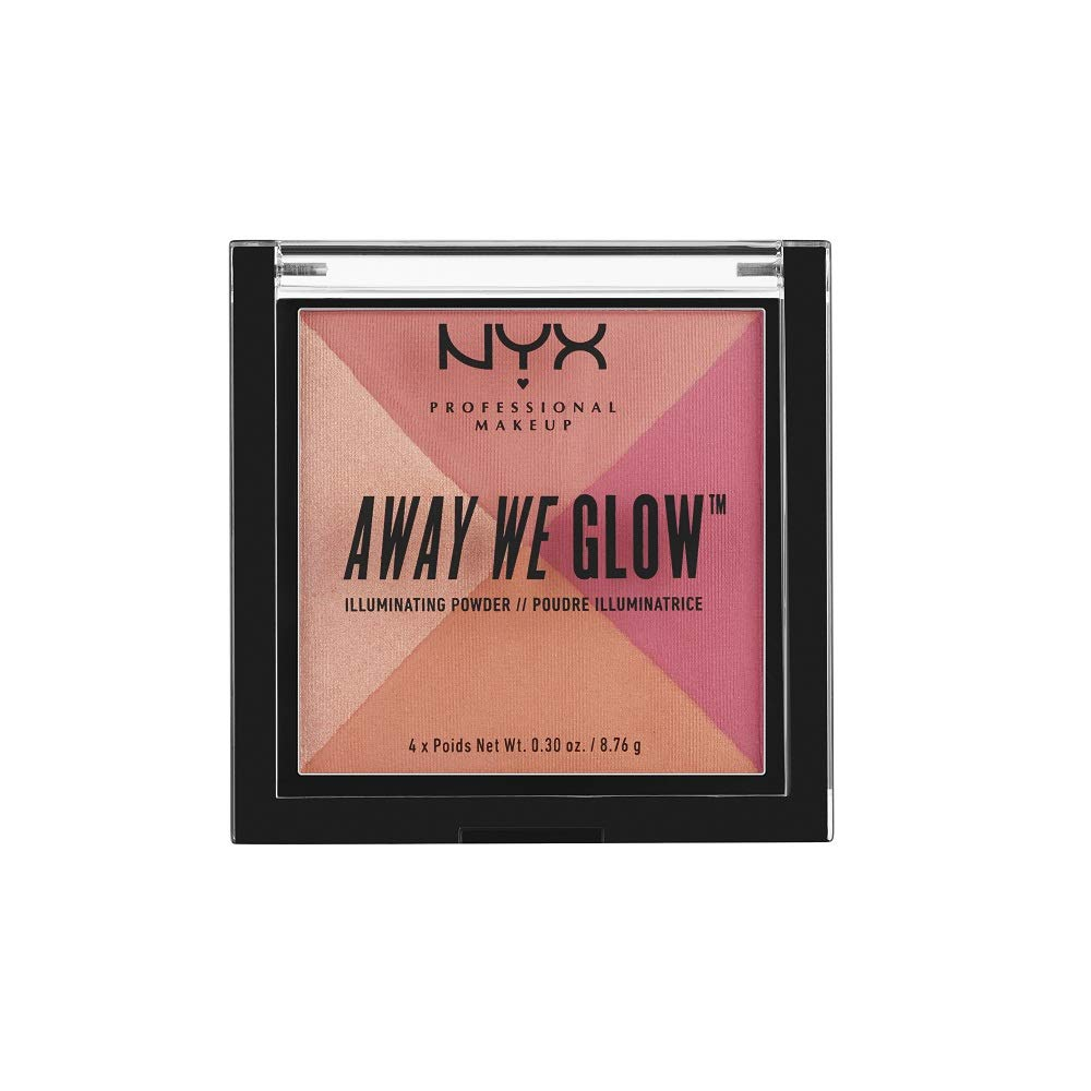 NYX PROFESSIONAL MAKEUP Away We Glow Illuminating Powder, Crushed Rose, 1 Count