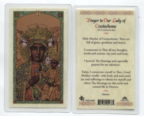 Prayer to Our Lady of Czestochowa Holy Card (HC9-405E) - Laminated