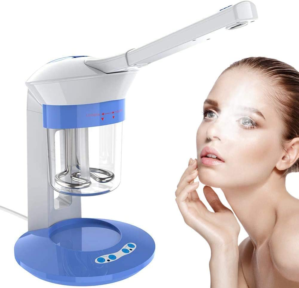 ZNXY Nano Ionic Facial Steamer with Hot Steam Spray & Ion Vapour Ozone Steamers Functions 360°Rotation Face Care Portable Home Use Aromatherapy Humidifier for Personal Beauty Sauna SPA