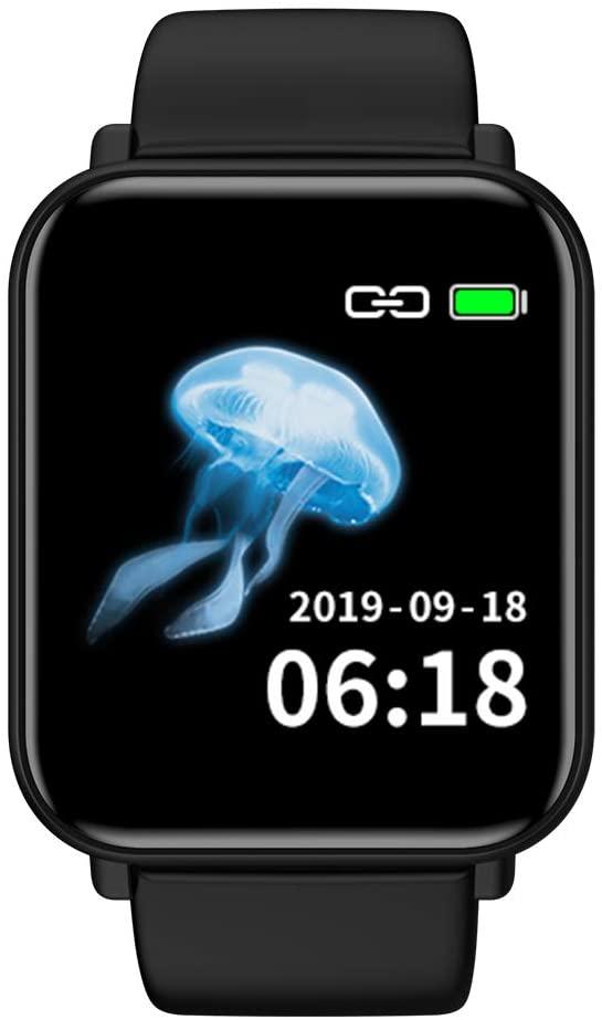 Smart Watch for Android Phones,Heart Rate Watches SPOVAN Smart Bracelet Sport Fitness Blood Pressure Sleeping Monitor ip68 Waterproof smartwatch Match Android or iOS Phone (smartwatch - Black)