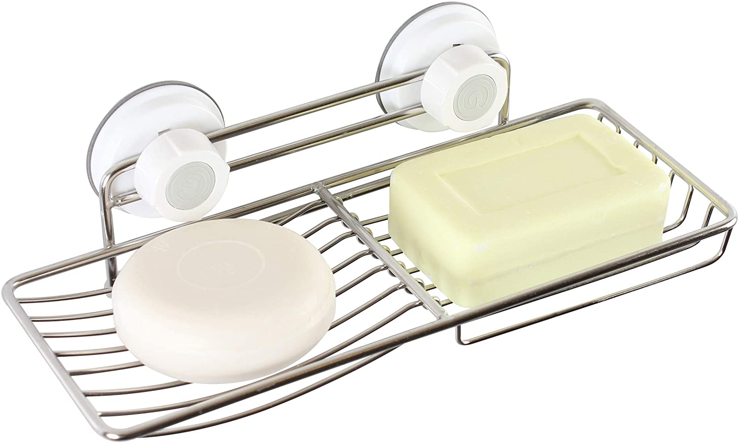 GLASTER Soap Dish Holder for Bathroom, Shower, Adsorption Holder Strong Rustproof Stainless Steel, Removable, Reusable, Adhesive NO, Drill Tool Free, Easy Install