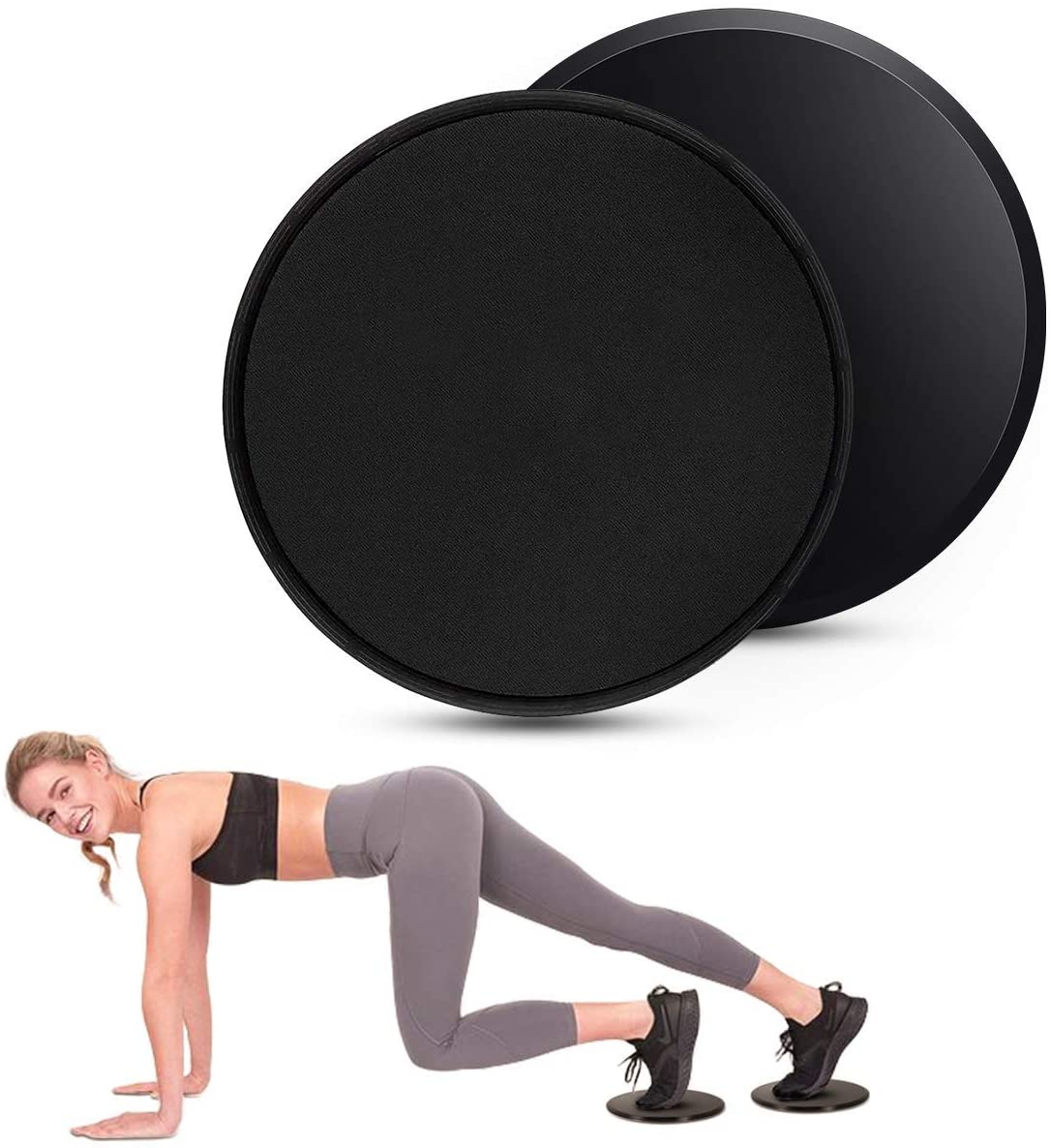 Core Sliders - Dual Sided Gliding Discs, Abdominal Exercise Equipment, Ideal for Ab & Core Workouts