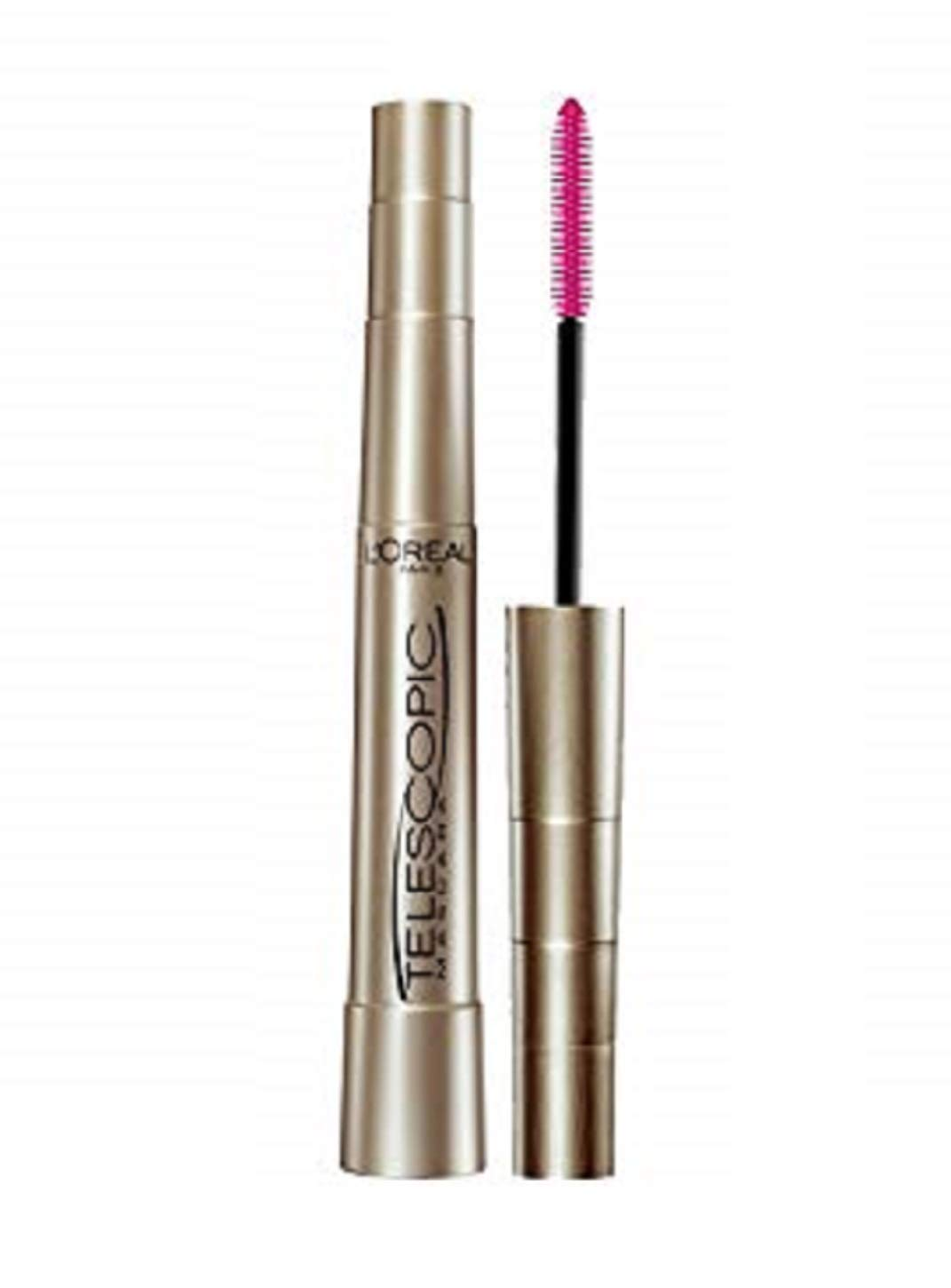 LOréal Paris Telescopic Original Mascara, 910 Blackest Black (Pack of 2)