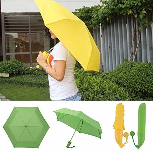 HDTstore Novelty Banana Paraguas Rain and Parasol Cute Umbrella For Moschino Women Kids Gifts Protection Windproof Folding Umbrellas