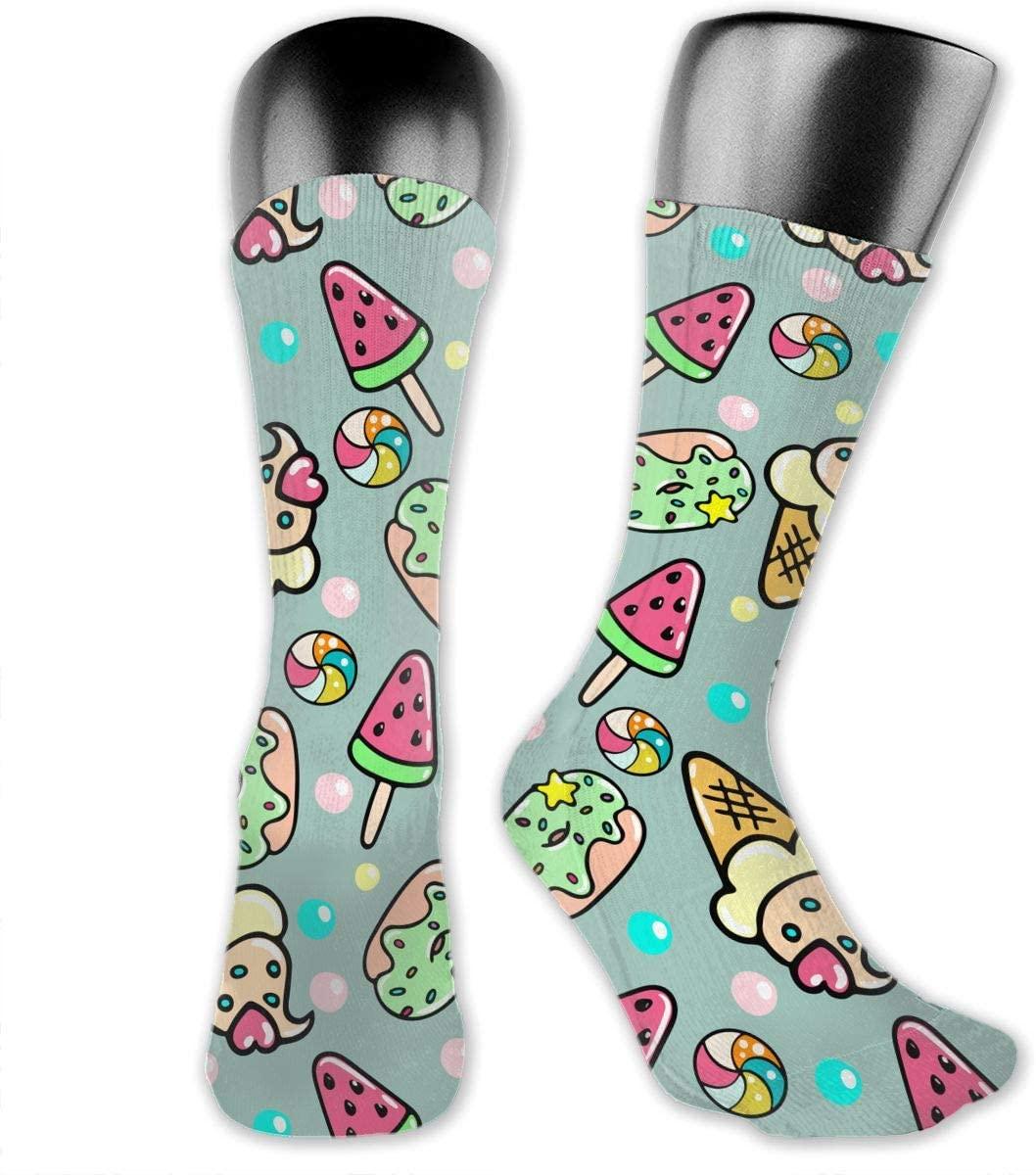 Sweet Doughnut Unisex Outdoor Long Socks Sport Athletic Crew Socks Stockings