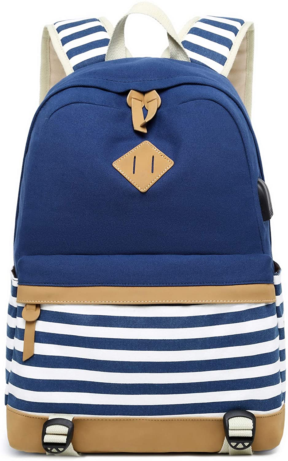On Iswee Waterproof Canvas Backpack for Women Fits 14