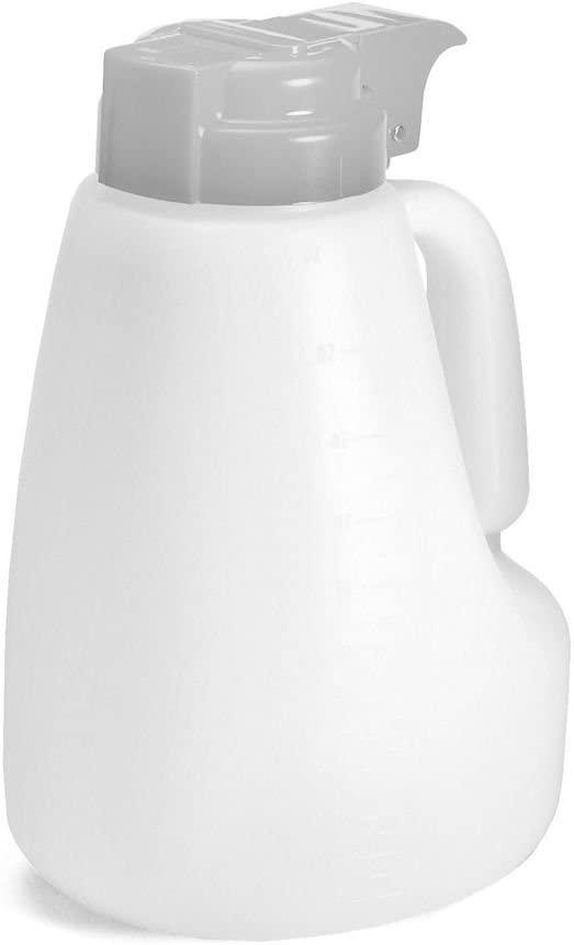 Tablecraft 48 Oz Option White Plastic Dispenser with Gray Top