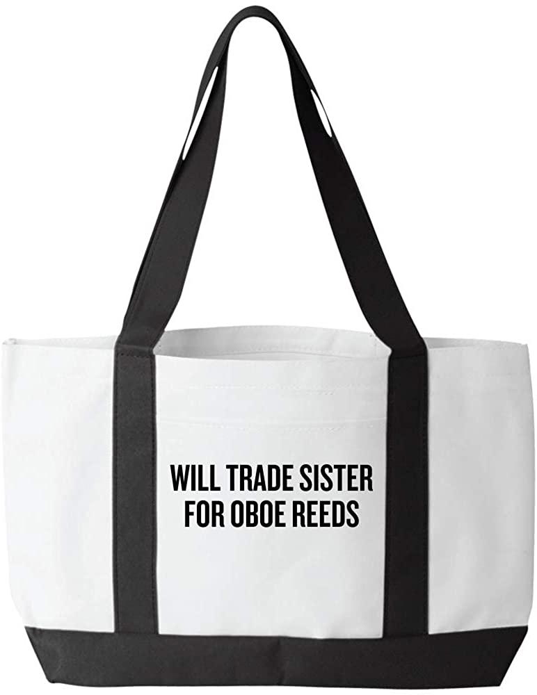 Funny Oboe Tote Bag - Oboist Gift Idea - Oboe Present - Will Trade Sister For Oboe Reeds
