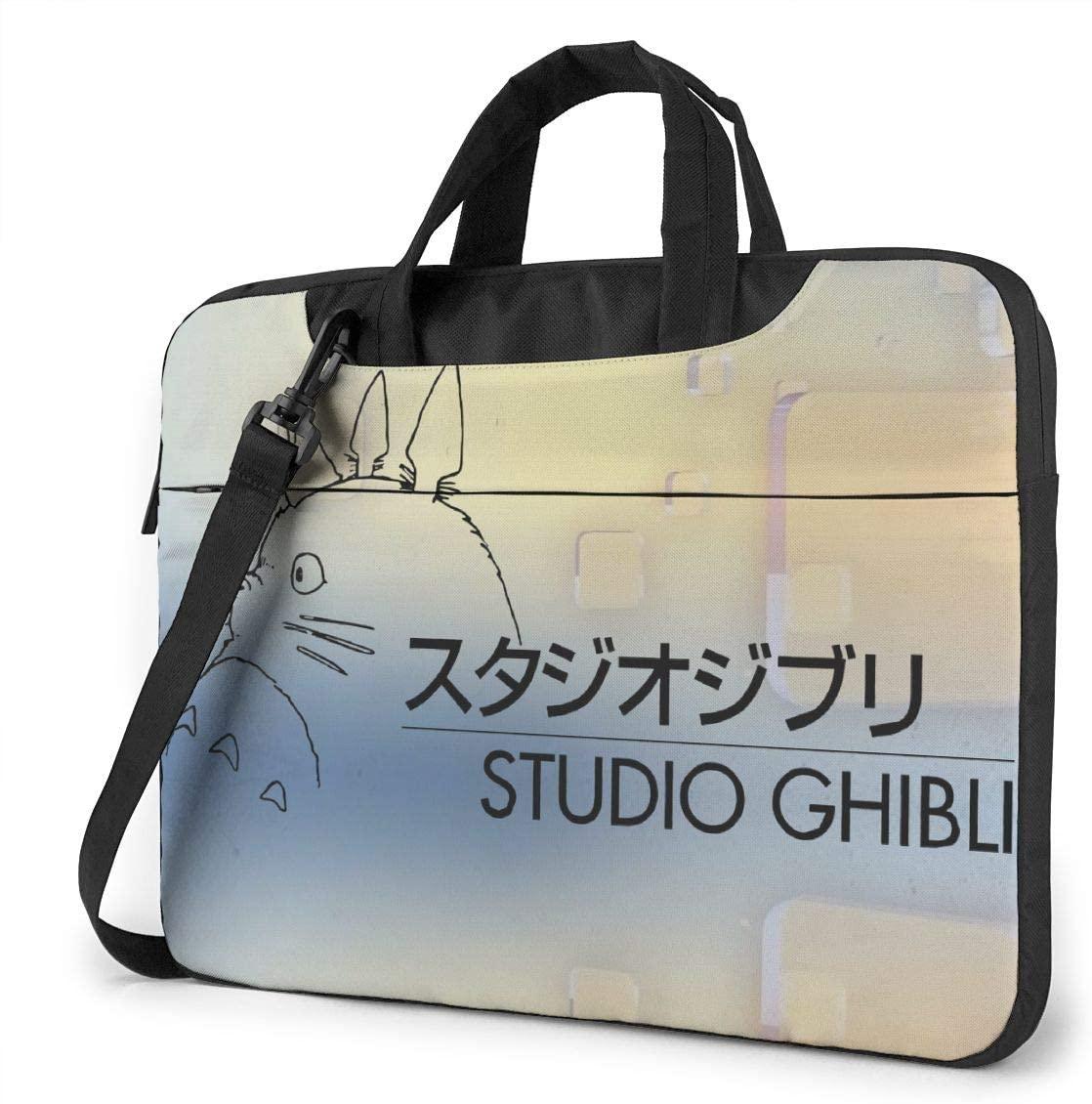 Studio Ghibli Logo Mens Waterproof Computer Bag Laptop Case Messenger Bag, 13in 14in 15.6in