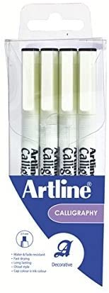 Artline 240 Calligraphy Pen Set 4 Assorted Sizes