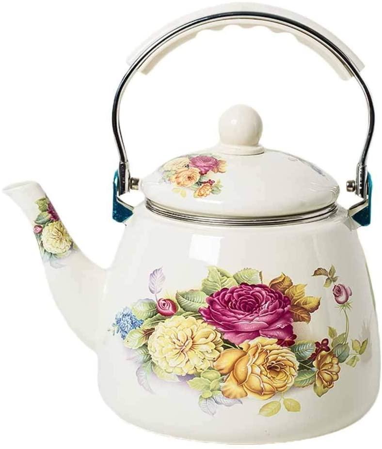 Whistle kettle Porcelain Kettle, 3.3L Household Filter Enamel Kettle Induction Cooker Gas Universal Coffee Pot Teapot Stainless steel kettle