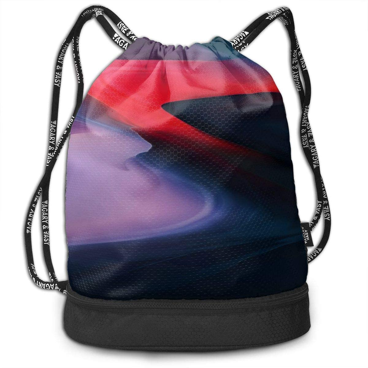 Drawstring Backpack Bag Sport Gym Sackpack With Colorful Abstract Design (50) Printing