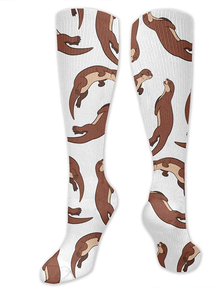Otter Lovers Athletic Socks Thigh Stockings Over Knee Leg High Socks