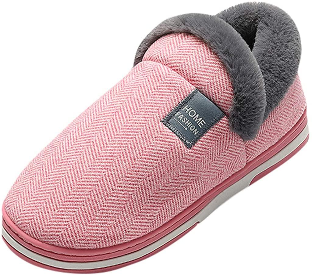 Ninasill Women's Winter Slippers Casual Warm Slip On Floor Home Slippers Indoor Cotton Shoes