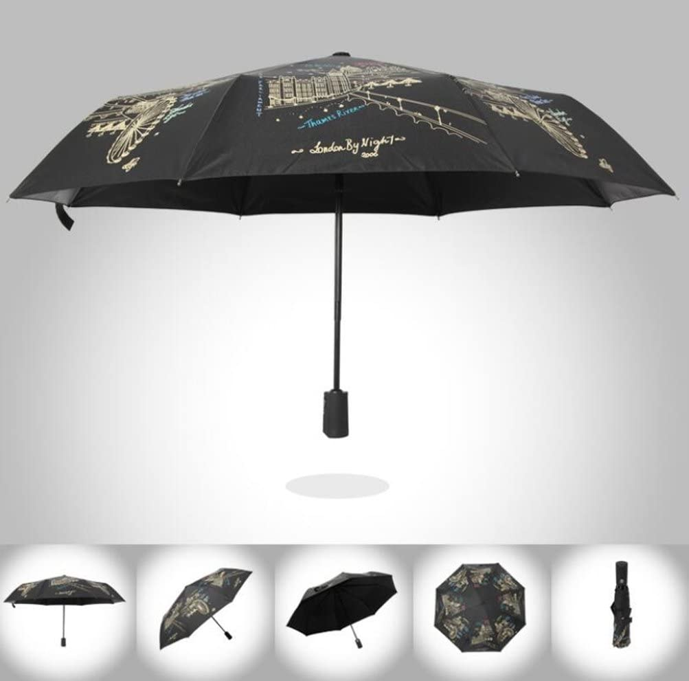 Carom Tuch Men/Women Windproof TravelUmbrella ravel Umbrellas for 8 Rib Reinforced Windproof Frame Slip-Proof Handle for Easy Carry Hit Cloth 105cm55cm95cm