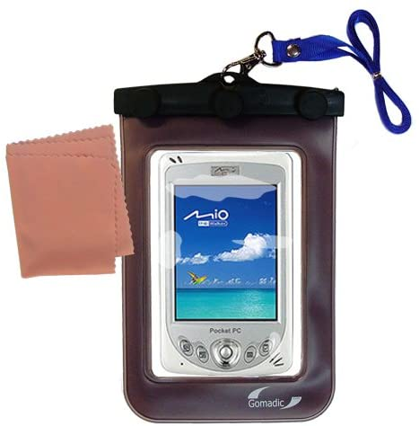 underwater case for the Mio 339 - weather and waterproof case safely protects against the elements