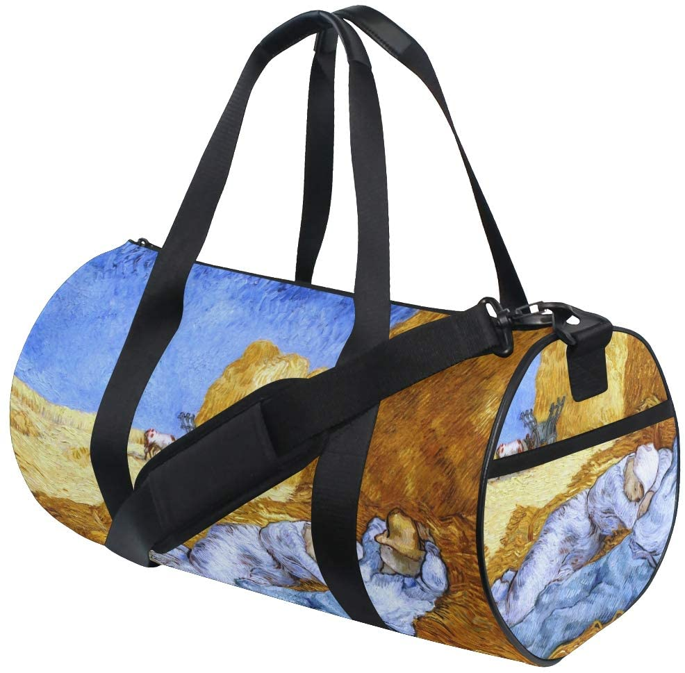 Huakz Van Gogh's Works Travel Duffle Bag Autumn Farmland Single shoulder bag Simple Lovers for Gym Sports and Overnight