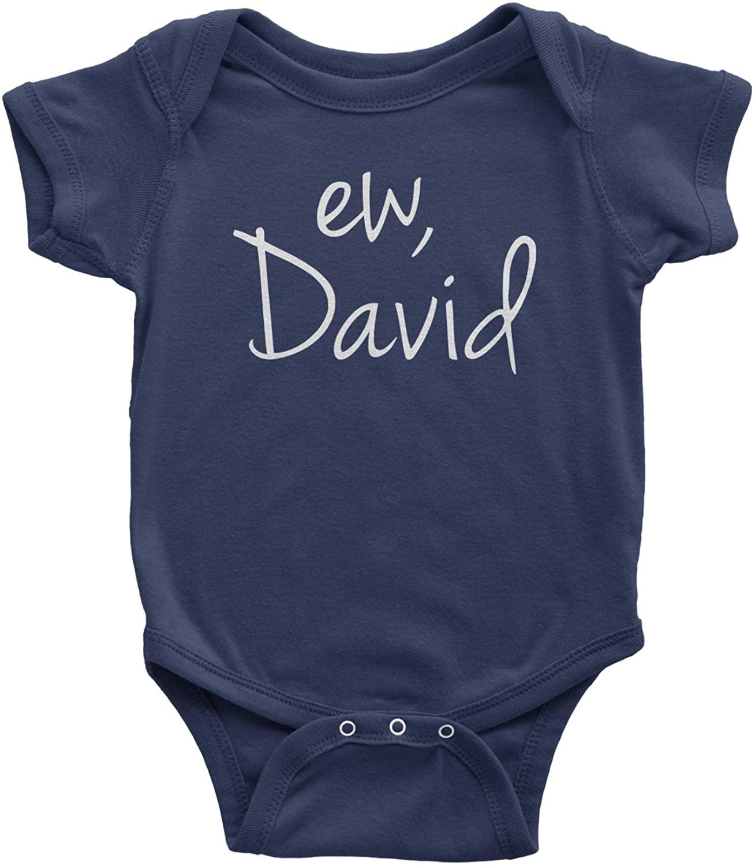 Expression Tees Ew, David Funny Creek TV Show Infant One-Piece Romper Bodysuit